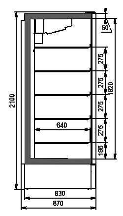 Szafy chłodnicze Kansas A1SG 087 LT 1HD 210-D700A-069 (z drzwiami Teknodor)
