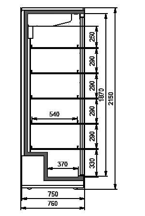 Szafy chłodnicze А1SG 075 HT SD 215-D1500A-127