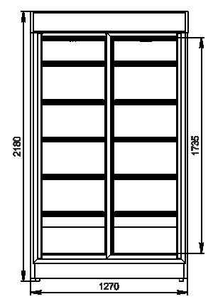 Szafy chłodnicze А1SG 075 HT SD 218-D1500A-127