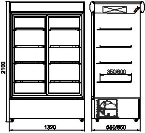 Szafy chłodnicze Kansas А2SG 055/085 HT SD 210-D600/D1200A-132