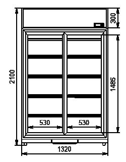 Szafy chłodnicze Kansas VА1SG 050/080 MT/HT SD 210-d800/D1200A-132