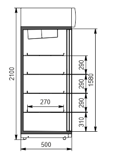 Szafy chłodnicze Kansas VА1SG 050 HT SD 210-D800А-132