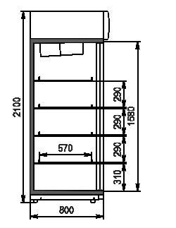 Szafy chłodnicze Kansas VА1SG 080 MT/HT SD 210-D1200A-132
