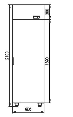 Refrigerated cabinets Kansas VАZG 066/076/086 MT/HT 1HD 210-D500/D600/D700A-065