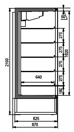 Szafy chłodnicze Kansas A1SG 087 LT 1HD 210-D700A-069 (z drzwiami Hitline)