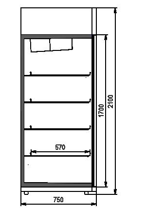 Szafy chłodnicze Kansas VАZG 075 LT 2HD 210-D1200A-132