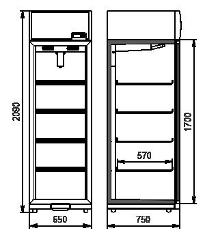 Szafy chłodnicze Kansas VА1SG 065/075 MT/HT 1HD 210-D500/D600A-065