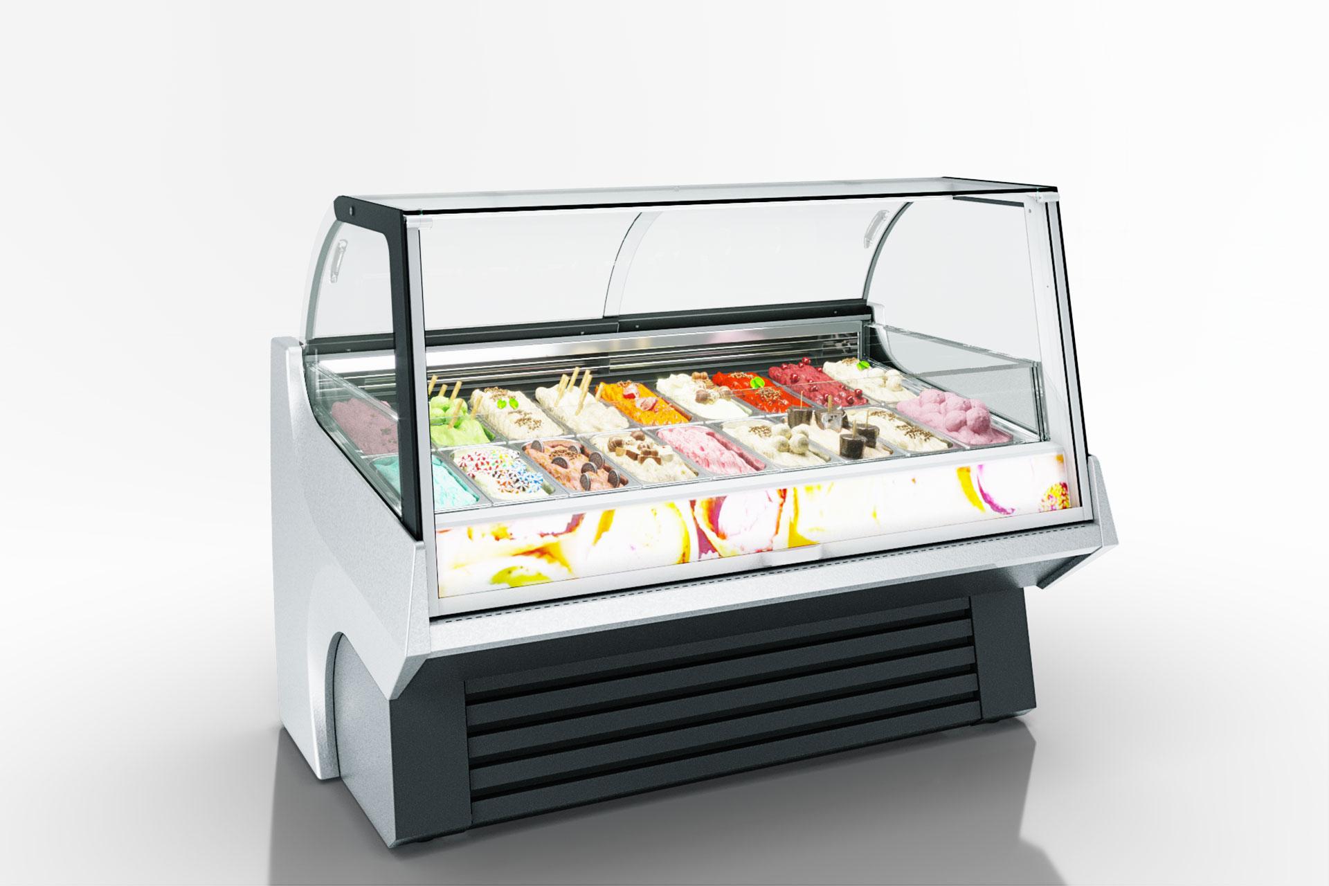 Lada chłodnicza przeznaczone do sprzedaży lodów Мissouri AC 110 ice cream PS 172-DLA