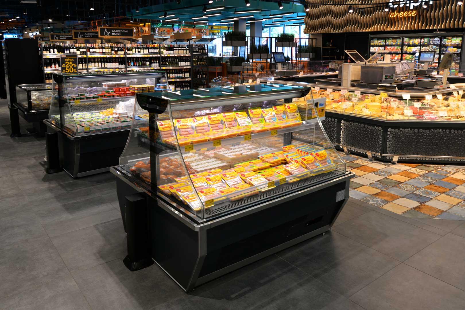 """Urządzenia impulsowe Virginia AI 120 deli self A, supermarket """"Epicentr"""" Połtawa"""