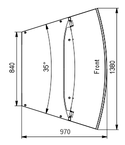Lady cukiernicze Dakota Sapphire KA 090 patisserie PS 140-DLA-ER35