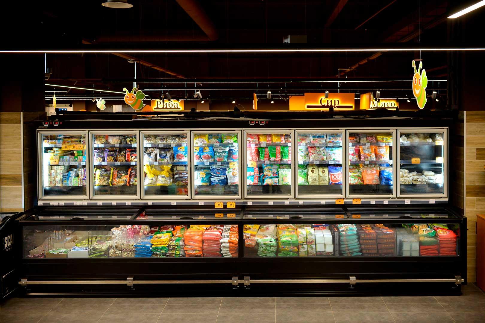 """Urządzenia do żywności mrożonej Alaska combi 2 MD MHV 110 LT, supermarket """"Pchyolka-market"""""""
