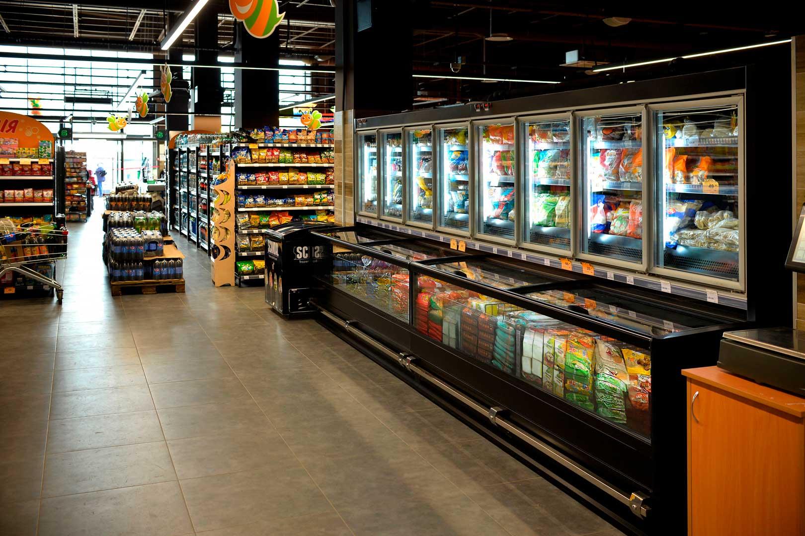 "Frozen foods units Alaska combi 2 MD MHV 110 LT, supermarket ""Pchyolka-market"""