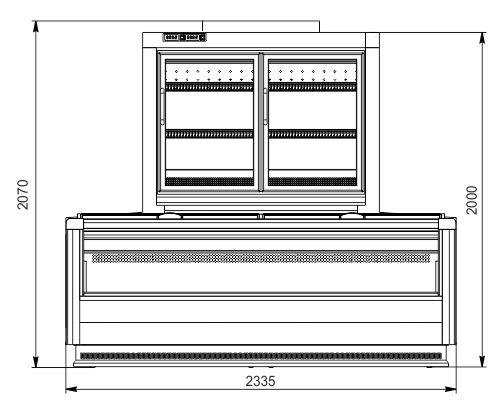 Urządzenia do żywności mrożonej moduł końcowy Alaska combi 2 MD MHV 110 LT D/C 200-DLM