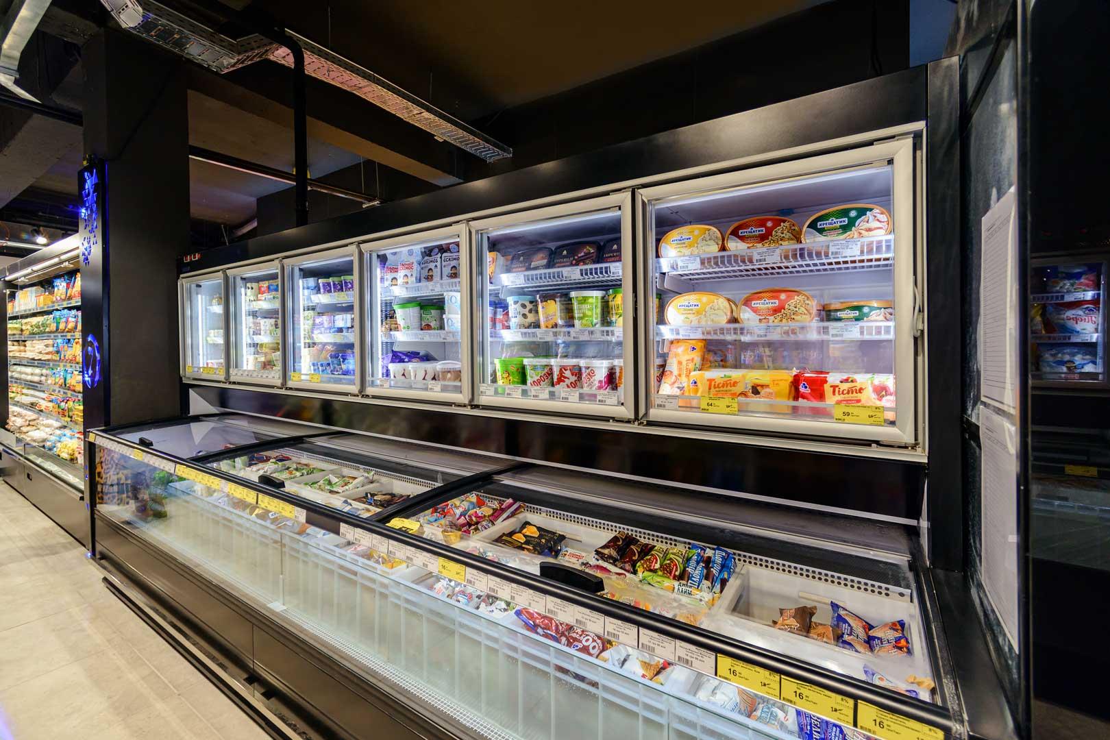 """Urządzenia do żywności mrożonej «Alaska combi 2 MHV 110 LT D/C M» supermarket """"Zerkalny"""" w Berdiańsku"""