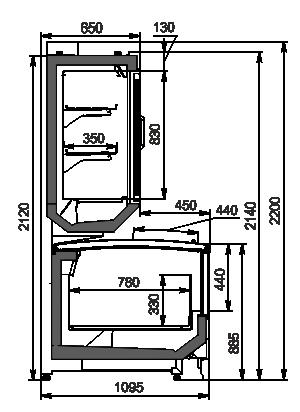 Urządzenia do żywności mrożonej Alaska combi 2 SD MHV 110 LT D/C 220-DLM