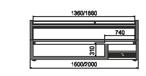 Вітрини для заморожених продуктів Cep AH 088 LT C 094-SLA