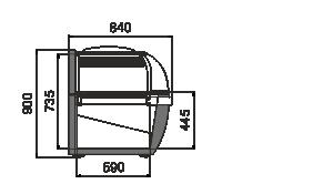 Вітрини для заморожених продуктів Cep AH 088 LT C 094-SLA-TL