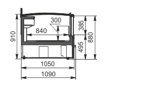 Frozen foods unit Yukon MH 160 LT C 100-SLA-TL