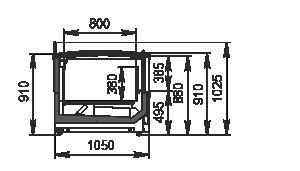 Frozen foods unit Yukon MH 160/200 LT C 088-DLM-TL