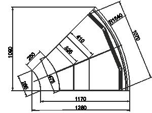 Missouri MC cascade M - Element narożniks