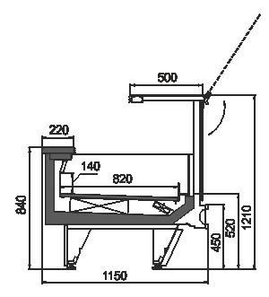 Refrigerated counters Missouri cold diamond MC 115 LT PS 121-DLM/DLA