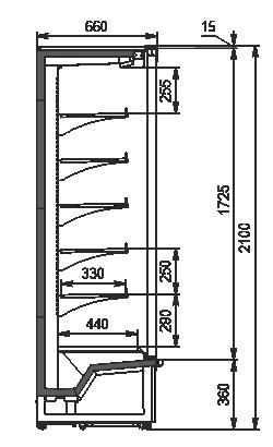 Regały Indiana medium AV 066 MT D 210-DLA