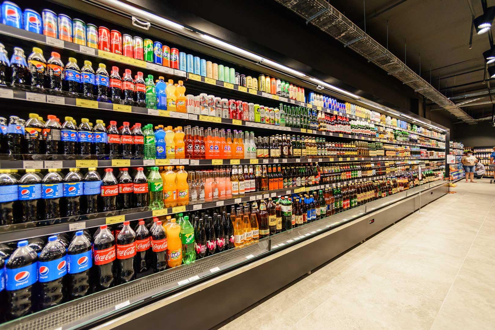 "Refrigerated multideck cabinets «Indiana medium AV 070 MT O M/А», supermarket ""Zerkalny"" in Berdyansk"