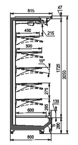 Refrigerated multideck Indiana 2 MV 080 MT O 205-DLM