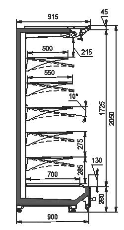 Refrigerated multideck Indiana 2 MV 090 MT O 205-DLM