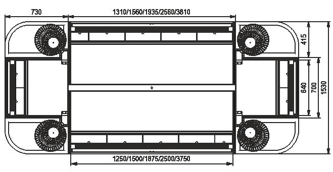 Niskie regały Indiana eco ASV 070 MT O 130-DLM