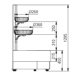 Niskie regały Indiana eco NSV 070 O 130-ES-90 - lewy element narożnik