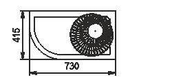 Niskie regały Indiana eco NSV 070 O 130-ES-90 - prawy element narożnik