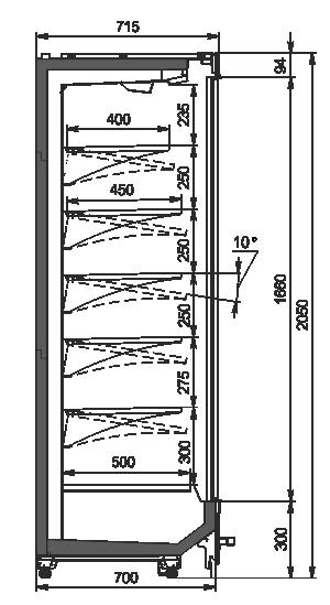 Multideck cabinets Indiana MV 070 MT D 205-DLM