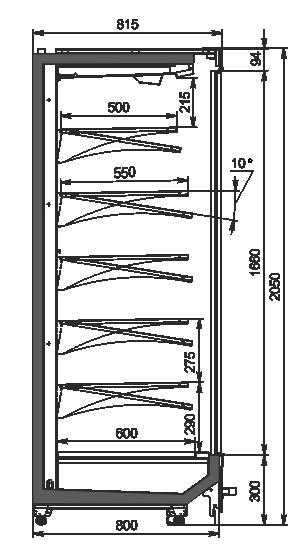 Regały Indiana MV 080 MT D 205-DLM