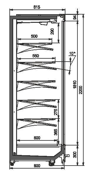 Multideck cabinets Indiana MV 080 MT D 220-DLM