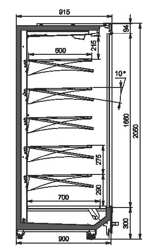 Multideck cabinets Indiana MV 090 MT D 205-DLM