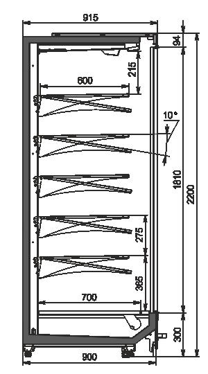 Multideck cabinets Indiana MV 090 MT D 220-DLM