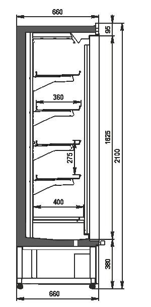 Multideck cabinet Indiana medium AV 066 LT D 210-DLM/DLA