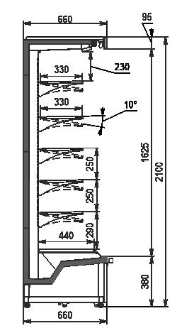 Refrigerated multideck cabinets Indiana medium AV 066 MT O 210-DLA