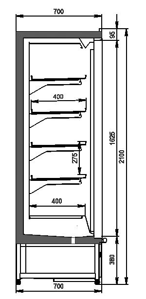 Multideck cabinets Indiana medium AV 070 LT D 210-DLM/DLA