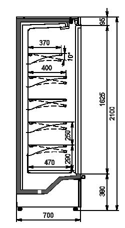 Regały Indiana medium AV 070 MT D 210-DLM/DLA