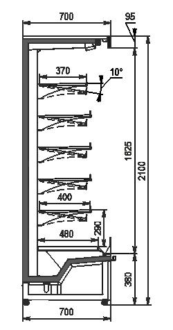 Refrigerated multideck cabinets Indiana medium AV 070 MT O 210-DLM/DLA