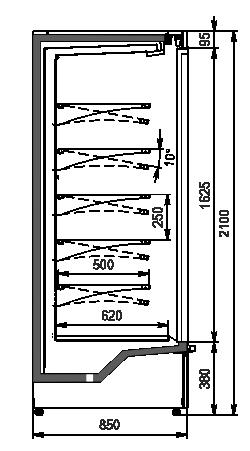 Regały chłodnicze Indiana medium AV 085 MT D 210-DLM/DLA