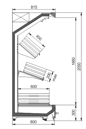 Regały Indiana MV 080 FV O 205-DLA