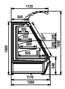 Refrigerated semi-vertical cabinet Louisiana eco ASV 115 MT D 160-DLA (option)