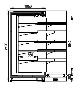 Regały Louisiana MV 105 MT O 210-DLM-IS90