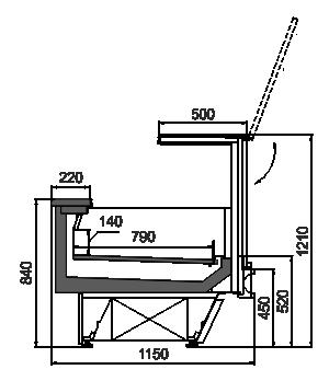 Refrigerated counters Missouri cold diamond MC 115 LT PS 2 121-DLA