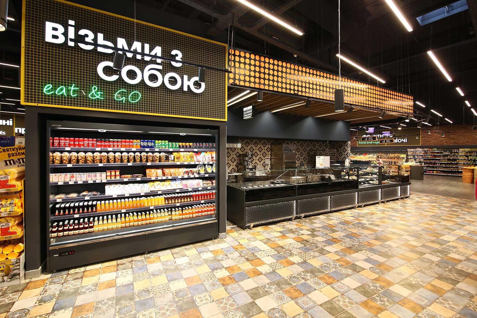 Regały chłodnicze Indiana medium AV 066 MT O 210-DLA, Missouri MC 120 sushi/pizza L 130-DBM, Missouri NC 120 L 130