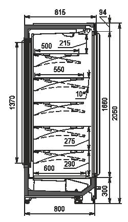 Regały Indiana BD MV 080 MT D 205-DLM