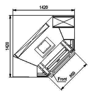 Regały Indiana MV 080 MT D 205-DLA-IS90